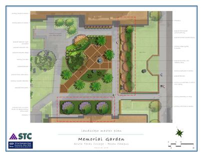 SSP Was Engaged By South Texas College To Prepare Plans For A  Faculty/student Memorial Garden Located On The Pecan Campus In McAllen,  Texas.
